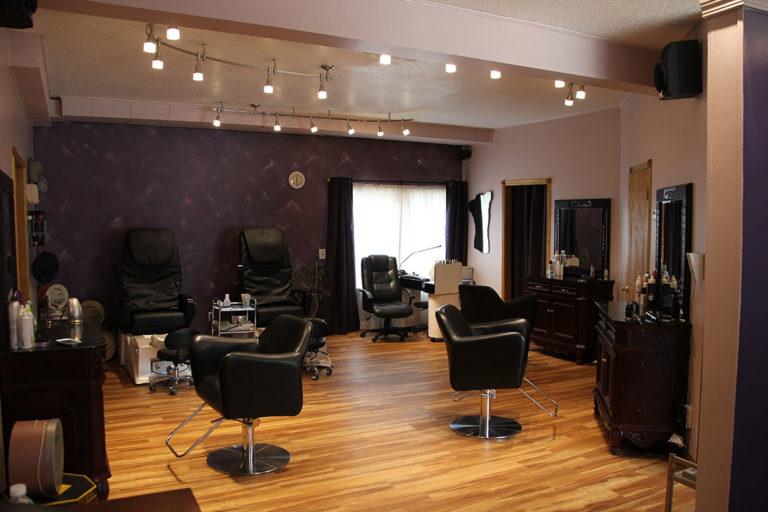 The salon floor